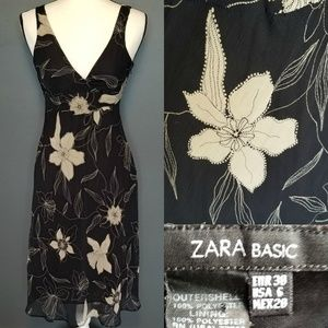 ZARA BASIC Floral Midi Dress